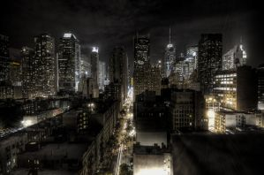 New York City at night HDR by Charlie-Audern