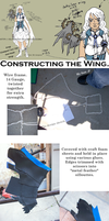 Swan Maiden: Wing Craft p1 by elfgrove