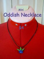 Mini Oddish Necklace by CynicalSniper