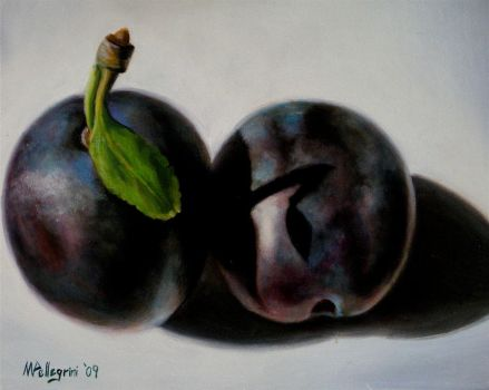 Two Plums by nicolepellegrini