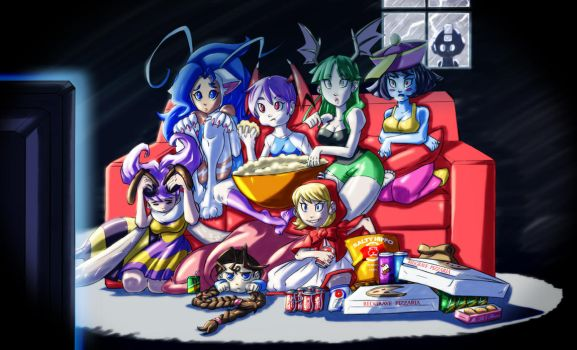 Darkstalkers: Vampire Sleepover - Resurrection by ChickenDoodleSoup