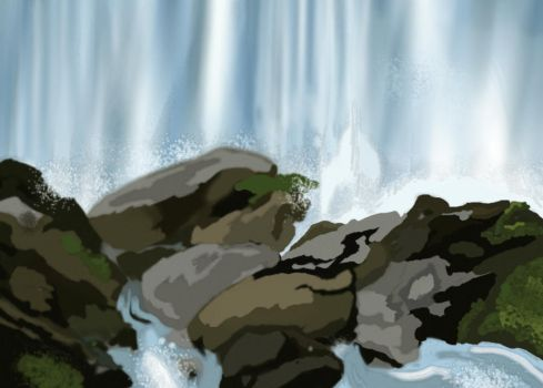 waterfall by SLVFighter