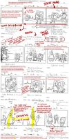 SpongeBob Storyboard Notes by shermcohen