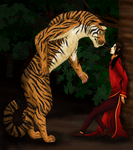 Mythical Hetalia: Chinese Were-Tiger by snakeshine