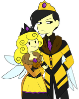 Queen and King of the bee kingdom by TheLittlehoneybee