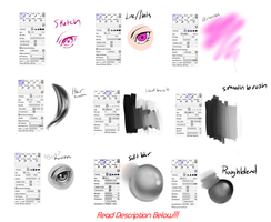 Bekkomi's Paint Tool Sai Brush Settings by bekkomi