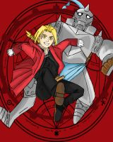 The Elric Brothers by MonocleBunny