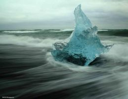 Beached Iceberg1 , South Coast by Remimcmurtry