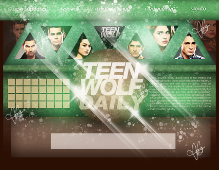 Teen Wolf Header by JayySonata