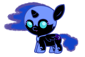 Baby Nightmare Moon by Beavernator