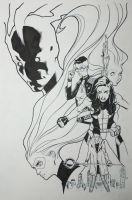 A-Force #3 Inks by ZurdoM