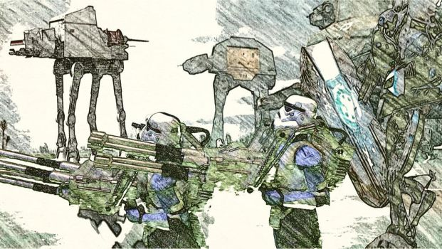 Quad gunners on scarif by icejeansflower