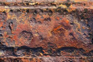 Rust detail from the Speke shipwreck by Rhyton