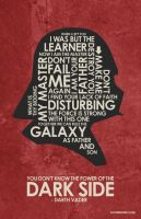 Star Wars - Darth Vader poster by outnerdme
