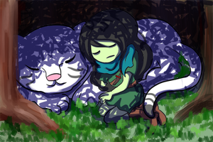 Adventure Time - Forest Nap by khiro