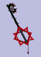 The Cursed Keyblade, Burden or Rose Thorn Keyblade by snowcloud8