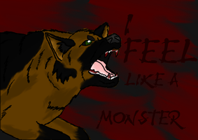 I feel like a monster by AchillesWolf
