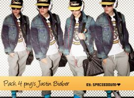 Pack 4 png's Justin Bieber by spaceboound