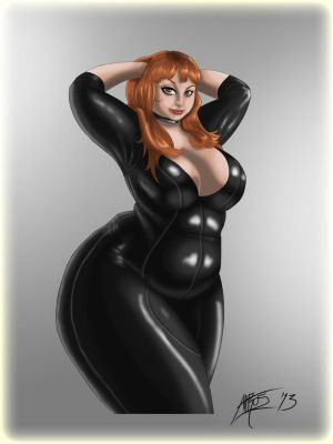 Claire latex Pinup by LordAltros