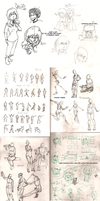 Sketches - January '15 by Frey-ofthe-Arcane