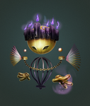Gold and Purple Ghost by Mig515