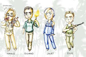 LOST: Others and DHARMA Chibis by BellaCielo