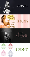 + FONT ARIANA GRANDE PACK by AndrezKP