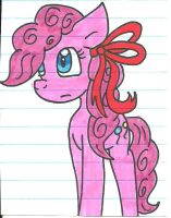 Pinkie with a red ribbon by cmara
