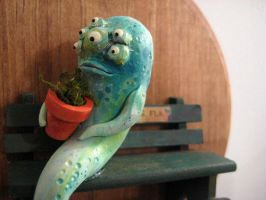 An Old Slug and his Flowepot. by oddhatter