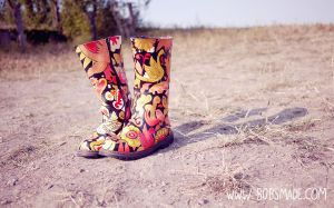 Burning Man Boots by Bobsmade