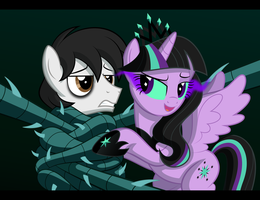 Nightwish and princess Twivine by Culu-Bluebeaver