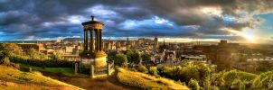 Calton Hill - Dual Monitor by richardsim7