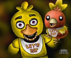Chica and Her New Partner by 29steph5