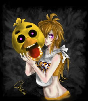 five nights at freddy's  //Chica by DgChaii