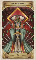 Cerebium Tarot 5 - The Hierophant by Hedrick-CS