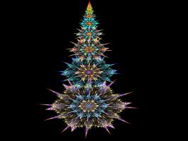 Multicolored Snowflake Tree by wolfepaw