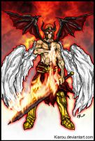 Commission: Flame Angemon for digipinky75910 by Kiarou