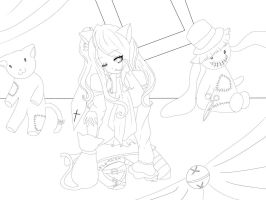 WIP should I color it? by xYandere