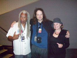 Me with Dave Fennoy and Melissa Hutchison by PaladinCecil