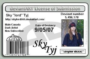 My licence of submission by skylord666