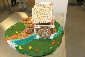 Gingerbread Cuckoo Clock (side view2) by recycledrapunzel