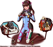 (Overwatch GTS) D. Va's Disappointment by JRBOwns