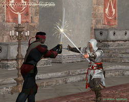 Ezio vs Kenshi by Acidic-Saurian