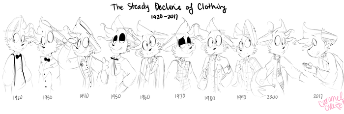 .The Steady Decline of Clothing. by CaramelCraze