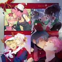kiss meme: winter kisses+ by einlee