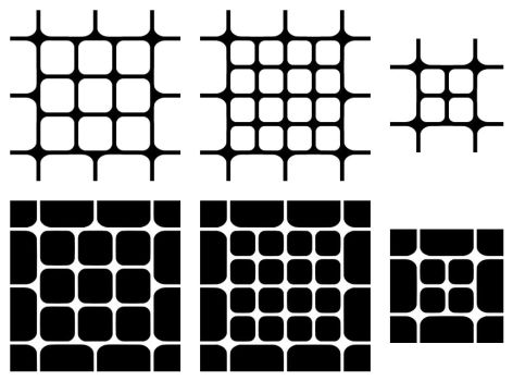 Rounded Squares - Mixed Patterns by wuestenbrand