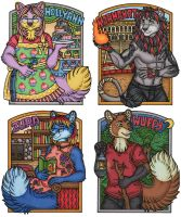 HollyAnn and Karmakat Conbadges by kalika-futago