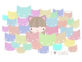 I love cats by SuziKute
