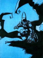 .:BATMAN - The Dark Knight:. On blue card by teflonmonkey