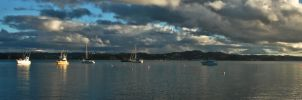 Bay of Islands panorama by MisterDedication